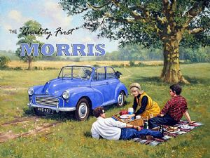 Morris Minor The Quality First large steel sign 400mm x 300mm (ogu)
